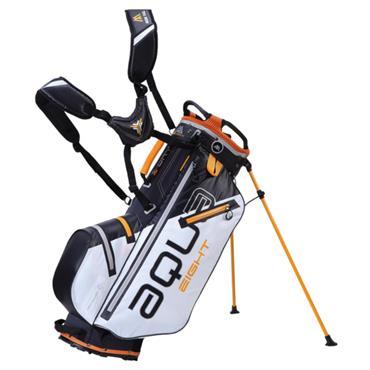 Big Max Aqua 8 W/P Stand Bag  White-Black-Orange