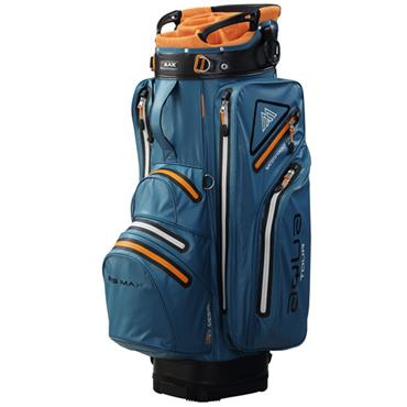 Big Max Waterproof Aqua Tour 2 Cart Bag Petrol - Orange - Black