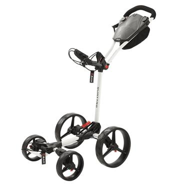 Big Max Quattro 4-Wheel Puch Cart  White