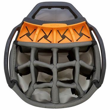 Big Max Aqua V-4 Waterproof Cart Bag  Blue-Black-Orange