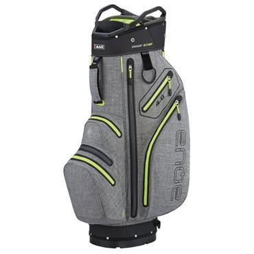 Big Max Aqua V-4 Waterproof Cart Bag  Storm/Silver/Lime