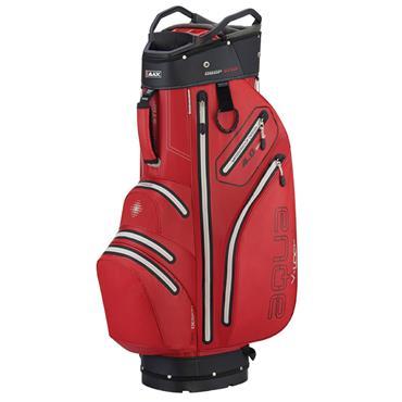 Big Max Aqua V-4 Waterproof Cart Bag  Red/Black