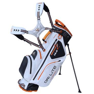 Big Max Dri Lite Hybrid Stand Bag  White/Black/Orange