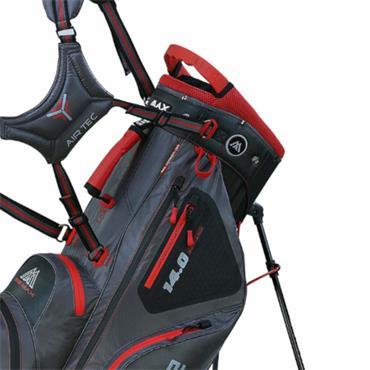 Big Max Dri Lite Hybrid Stand Bag  Charcoal Red Black