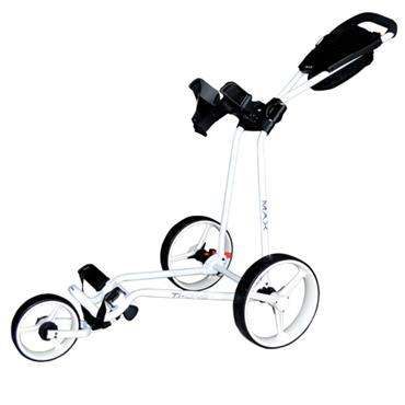 Big Max Ti One Folding Push Cart  White
