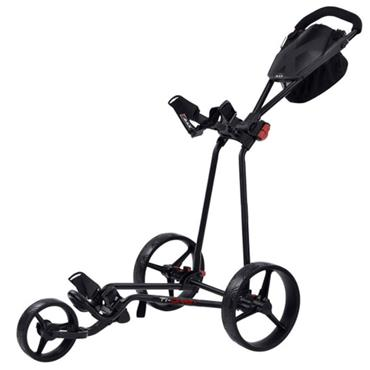 Big Max Ti One Folding Push Cart  Black