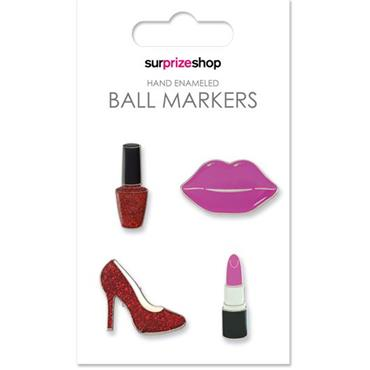 Surprizeshop Girly Ball Marker Set  Glamour