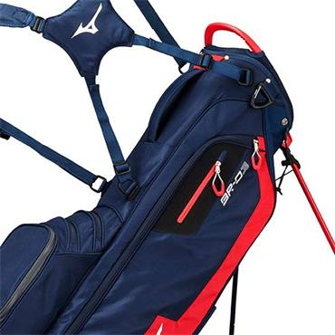 Mizuno BRD 3 Stand Bag 4 Way Divider  Navy/Red