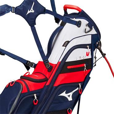 Mizuno BRD 4 Stand Bag 6 Way Divider  Navy/Red