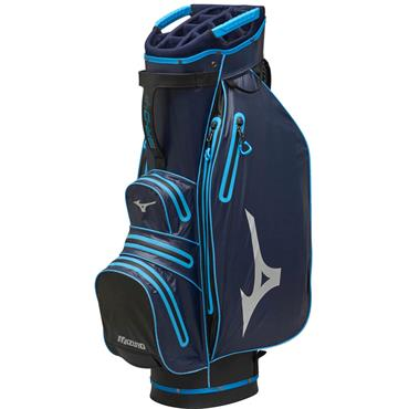 Mizuno BR-DRI Waterproof Cart Bag Navy - Cyan