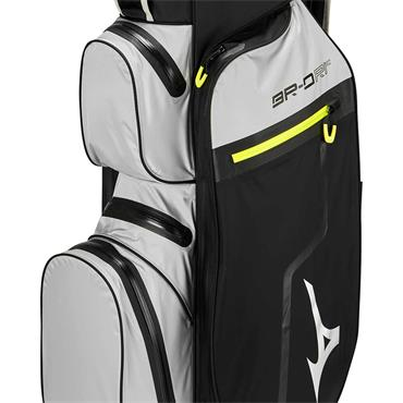 Mizuno BR DRI Waterproof Cart Bag 14Way Divider  Black Grey Lime