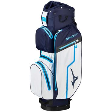 Mizuno BR DRI Waterproof Cart Bag 14Way Divider  Navy - White