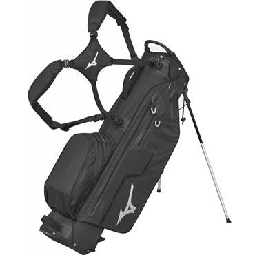 Mizuno BR DRI W/P Stand Bag 4 Way Divider  Jack Black Silver