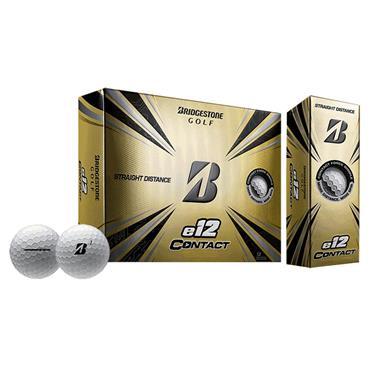 Bridgestone E12 Contact Golf Balls Dozen White