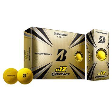 Bridgestone E12 Contact Golf Balls Dozen Yellow
