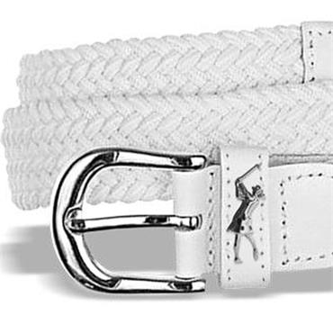 Surprizeshop Ladies Woven Golf Belt  White