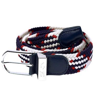 Surprizeshop Woven Belt  White/Blue