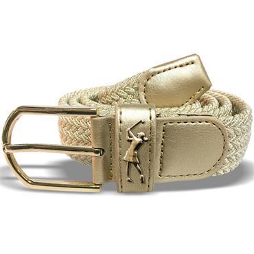 Surprizeshop Ladies Woven Golf Belt  Gold