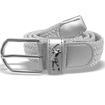 Surprizeshop Ladies Woven Golf Belt  Silver
