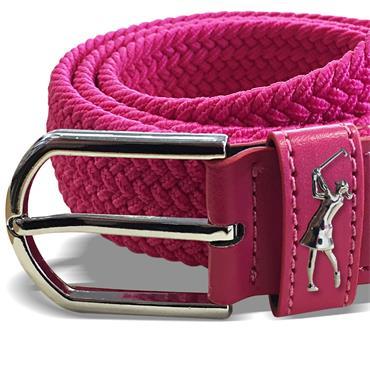 Surprizeshop Ladies Woven Golf Belt  Hot Pink