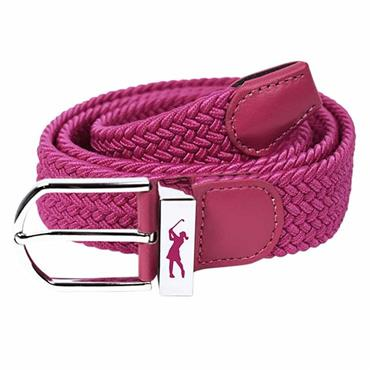 Surprizeshop Woven Golf Belt  Hot Pink