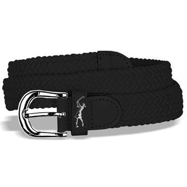 Surprizeshop Ladies Woven Golf Belt  BLACK