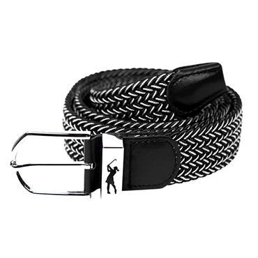 Surprizeshop Woven Belt  Black - White