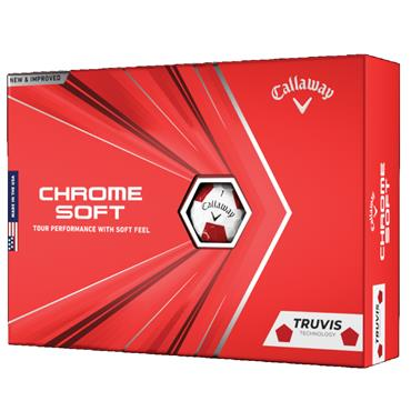 Callaway Chrome Soft Truvis Balls  Red/White
