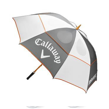 Callaway Mavrik Umbrella  White/Charcoal/Orange
