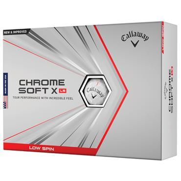 Callaway Chromesoft X LS Golf Ball Dozens  White