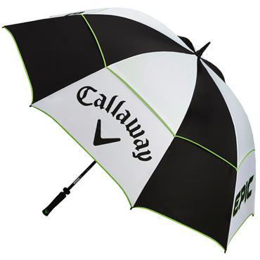 Callaway Epic 68 Double Canopy Umbrella  Black Green White