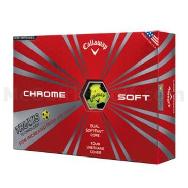 Callaway Chrome Soft Golf Balls Dozen  Truvis Yellow