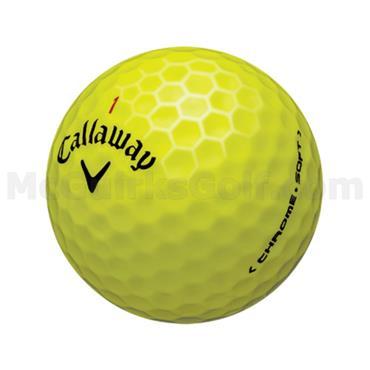 Callaway Chrome Soft Golf Balls Dozen  Yellow