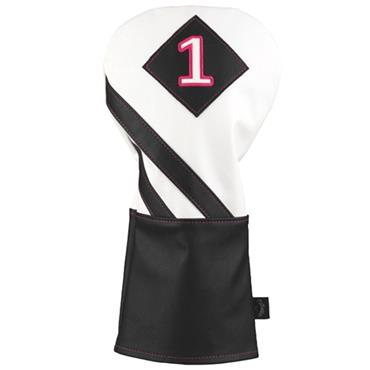 Callaway Vintage Driver Headcover  White - Black- Pink
