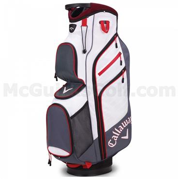 Callaway Chev Org Cart Bag Titanium - White - Red