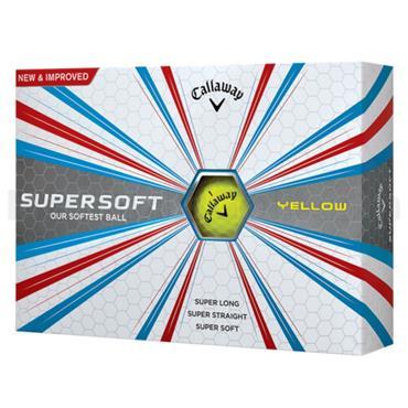 Callaway Supersoft Golf Balls Dozen  Yellow