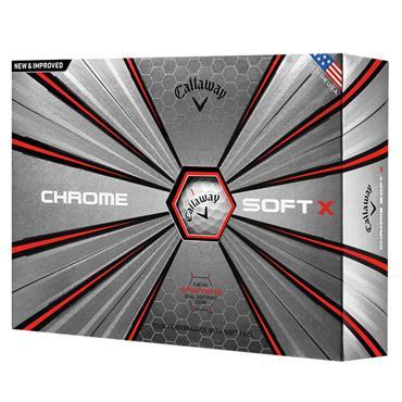 Callaway Chrome Soft X 18 Golf Balls Dozen Dozen White