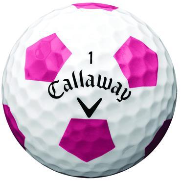 Callaway Chrome Soft 18 Truvis Golf Balls Dozen White Truvis Pink