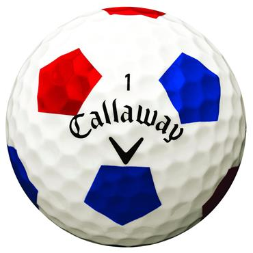 Callaway Chrome Soft Truvis Golf Balls Dozen White Truvis Red/Blue