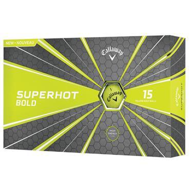 Callaway Superhot Bold Golf Balls 15 Ball Pack Yellow
