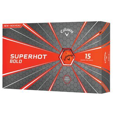 Callaway Superhot Bold Golf Balls 15 Ball Pack Orange