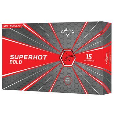 Callaway Superhot Bold Golf Balls 15 Ball Pack Red