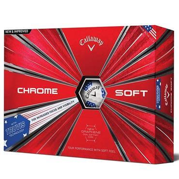 Callaway Chrome Soft Ryder Cup TruVis Golf Balls  U.S.A.