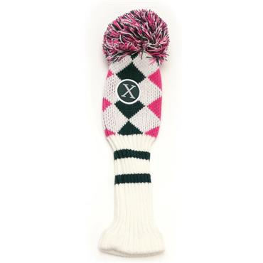 Callaway Pom Pom Fairway Headcover  White/Pink/Titanium