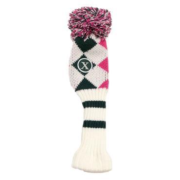 Callaway Pom Pom Hybrid Headcover  White/Pink/Titanium