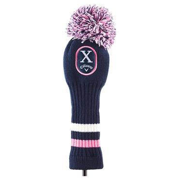 Callaway Pom Pom Hybrid Headcover  Navy Pink
