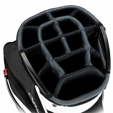 Callaway Chev Org 19 Cart Bag  Black/Titanium/White