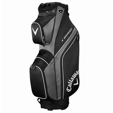 Callaway X Series 19 Cart Bag Black - Titanium - White