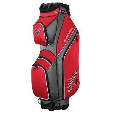 Callaway X Series 19 Cart Bag Red - Titanium - White