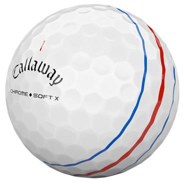 Callaway Triple Track Chrome Soft X Ball  White